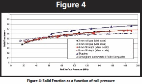 Micro Scale Prediction of the Roller Compaction Process
