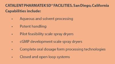 Catalent Pharmatek SD Facilities